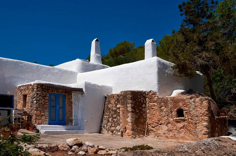 La arquitectura del poblado de Balàfia en Ibiza